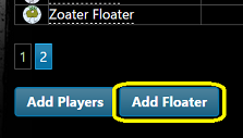 'Add floater' button on 'manage registrations' screen.